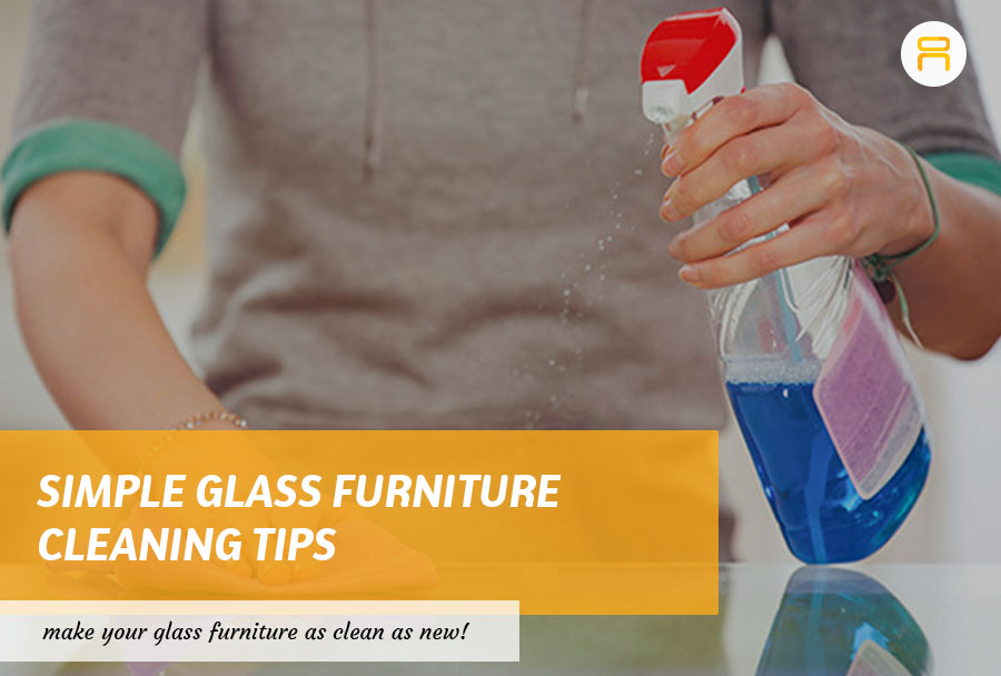 cleaning glass furniture