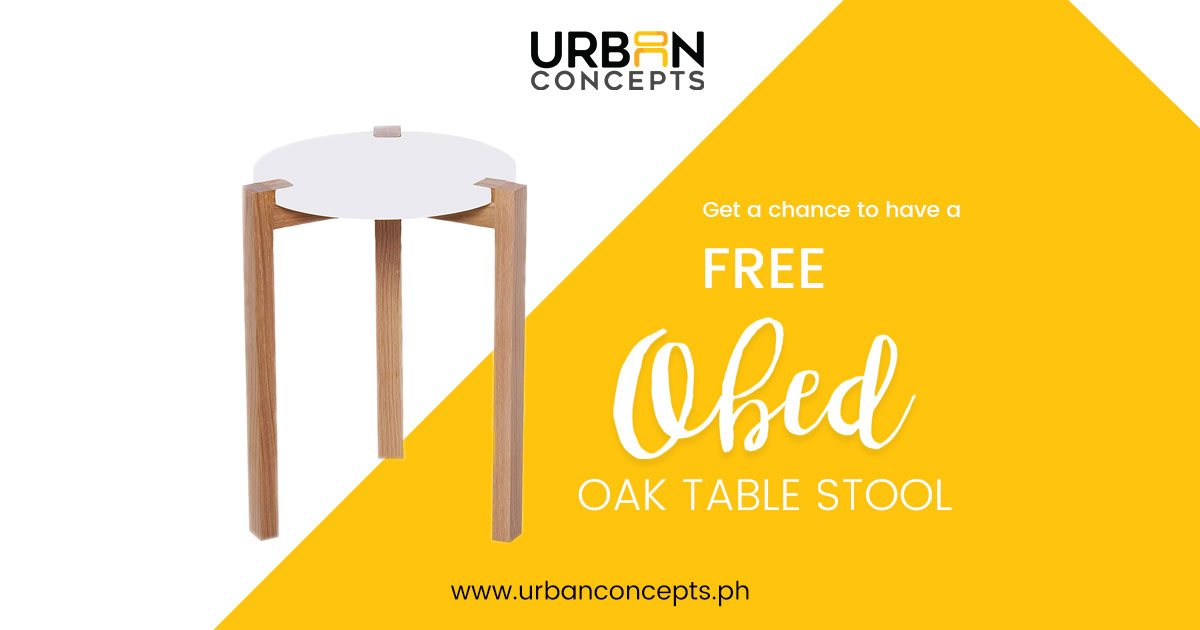 Obed Oak Table Stool Furniture Giveaway U2013 June 2017