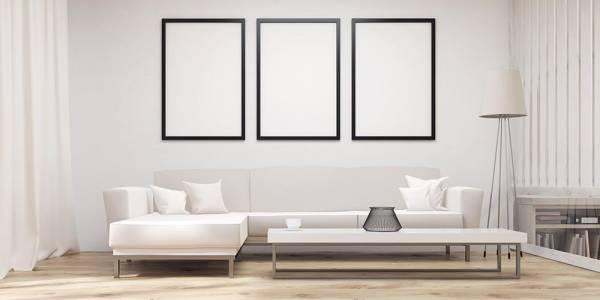 minimalistic living room