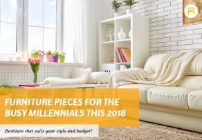furniture pieces for busy millennial 2018