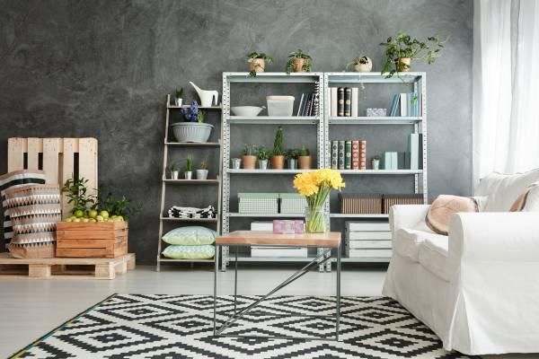 organize in a shelves
