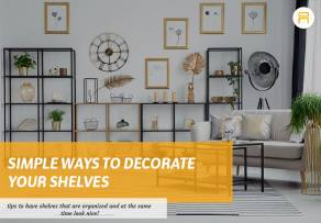 ways to decorate shelves