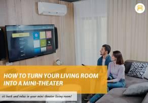 mini theater living room