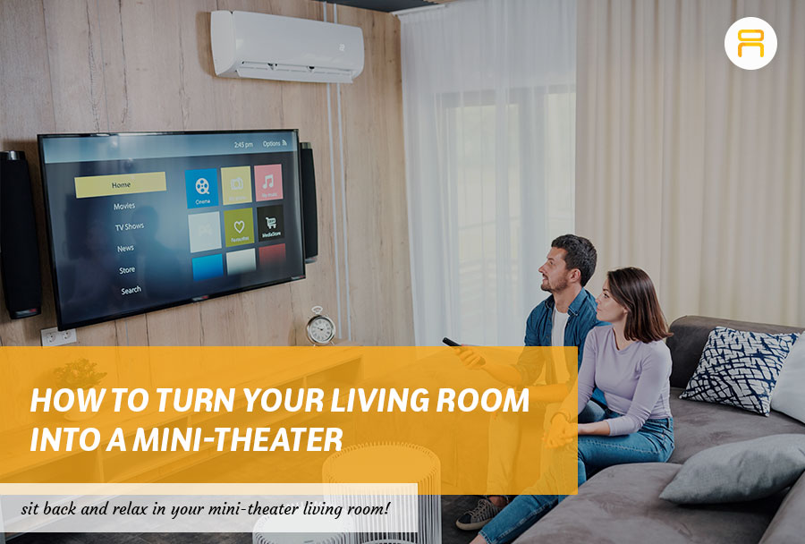 mini theater living room