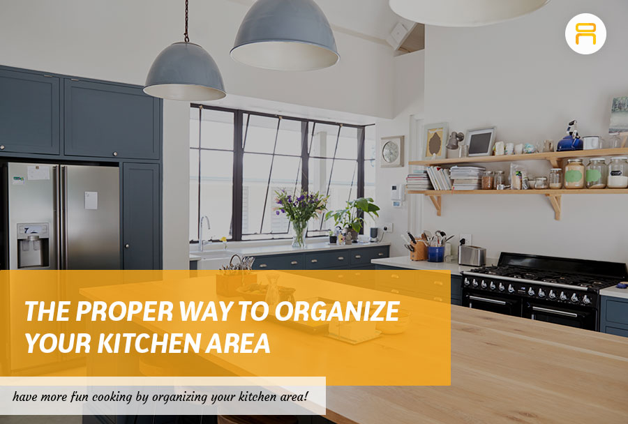 organize kitchen area