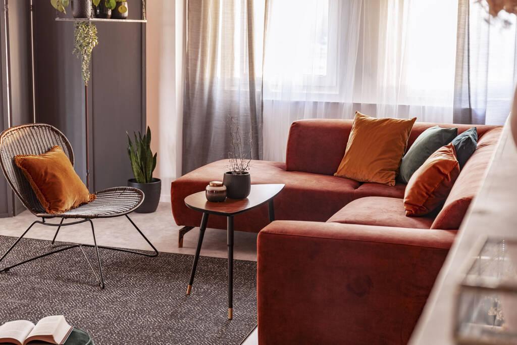 L-shape loveseat sofa