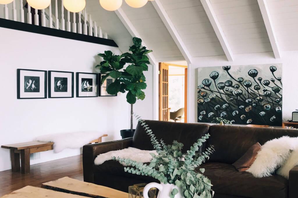 modern rustic living room